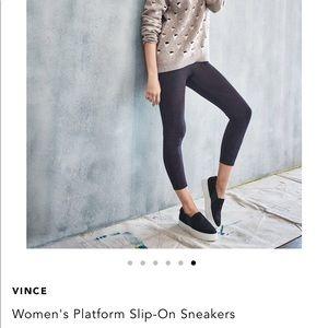 """Vince """"warren"""" black suede sneaker"""